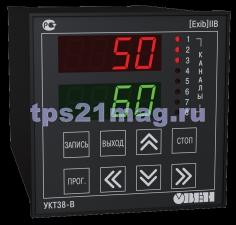 УКТ38-В Устройство контроля температуры восьмиканальное со встроенным барьером искрозащиты